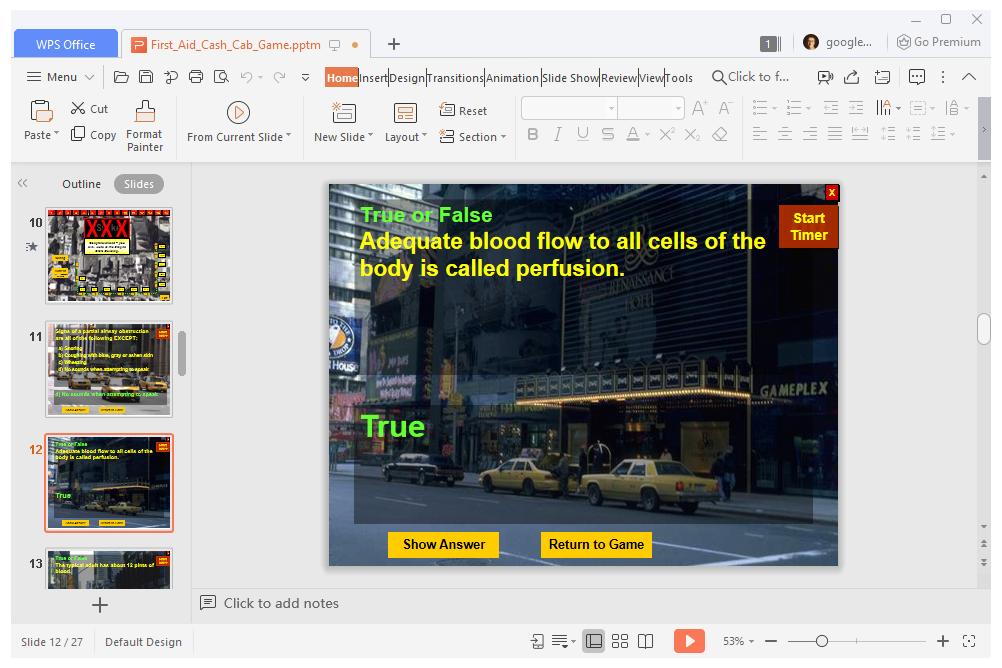 Cash Cab PowerPoint template