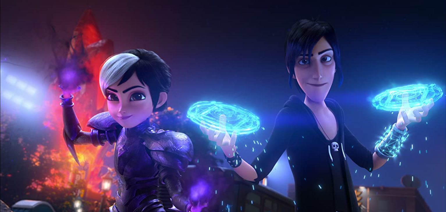 Characters summon some magic in 'Trollhunters: Rise of the Titans'