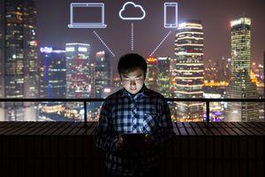 Man Using a Digital Tablet