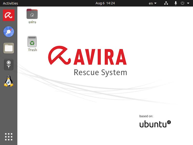 Avira Rescue System desktop