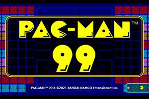 The opening screen from Pac-Man 99.