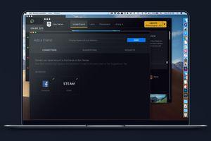 Add Friends screen in Epic Games Launcher on Macbook screen