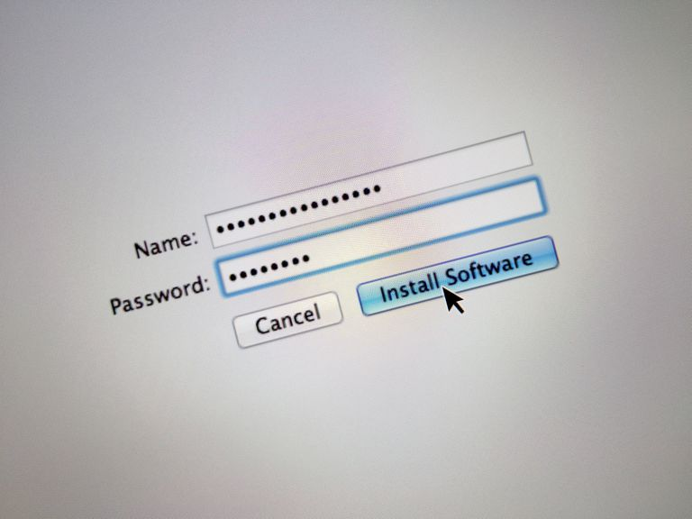 Picture of a login screen to install software