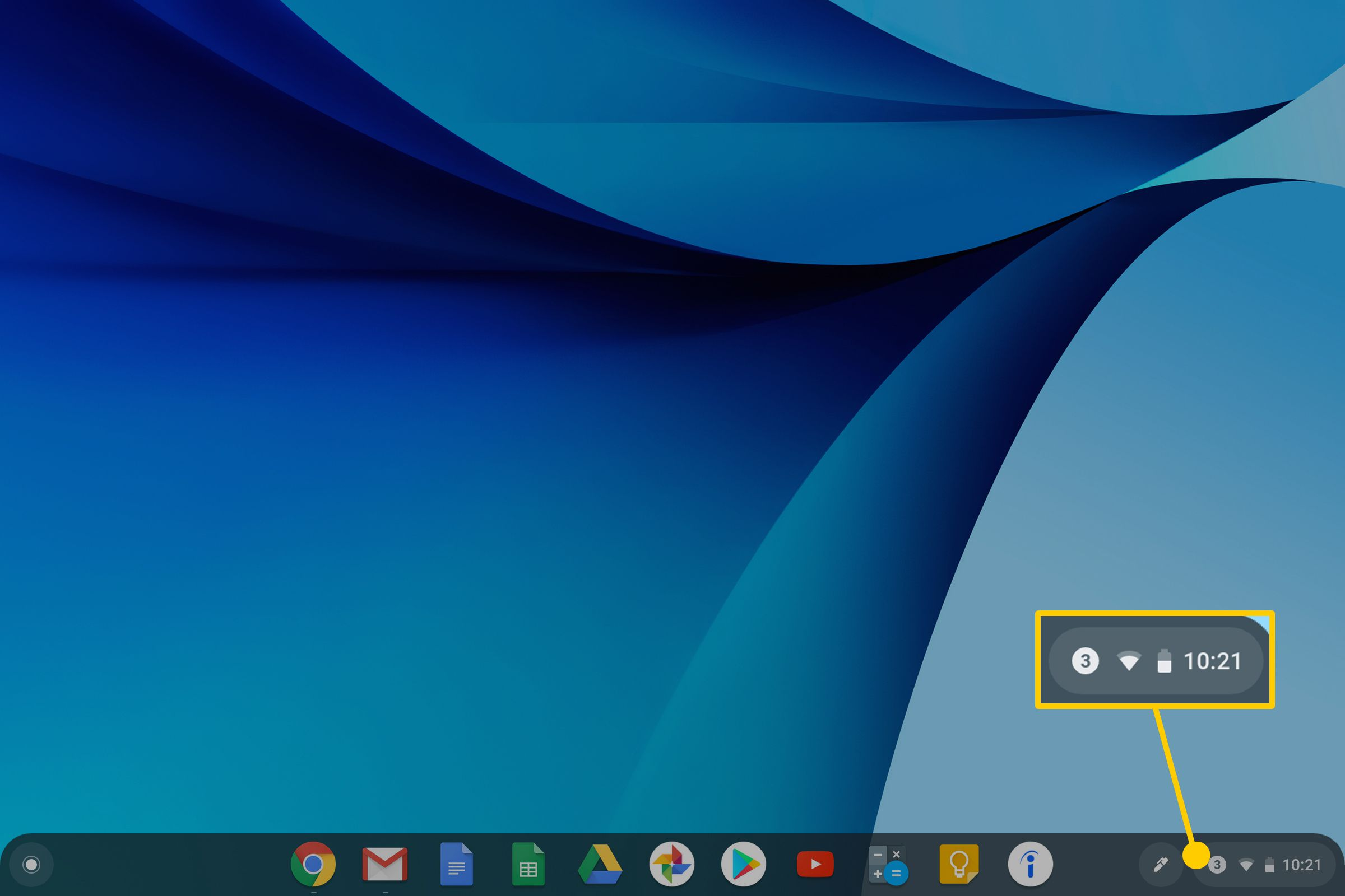 The Chromebook Notifications panel.