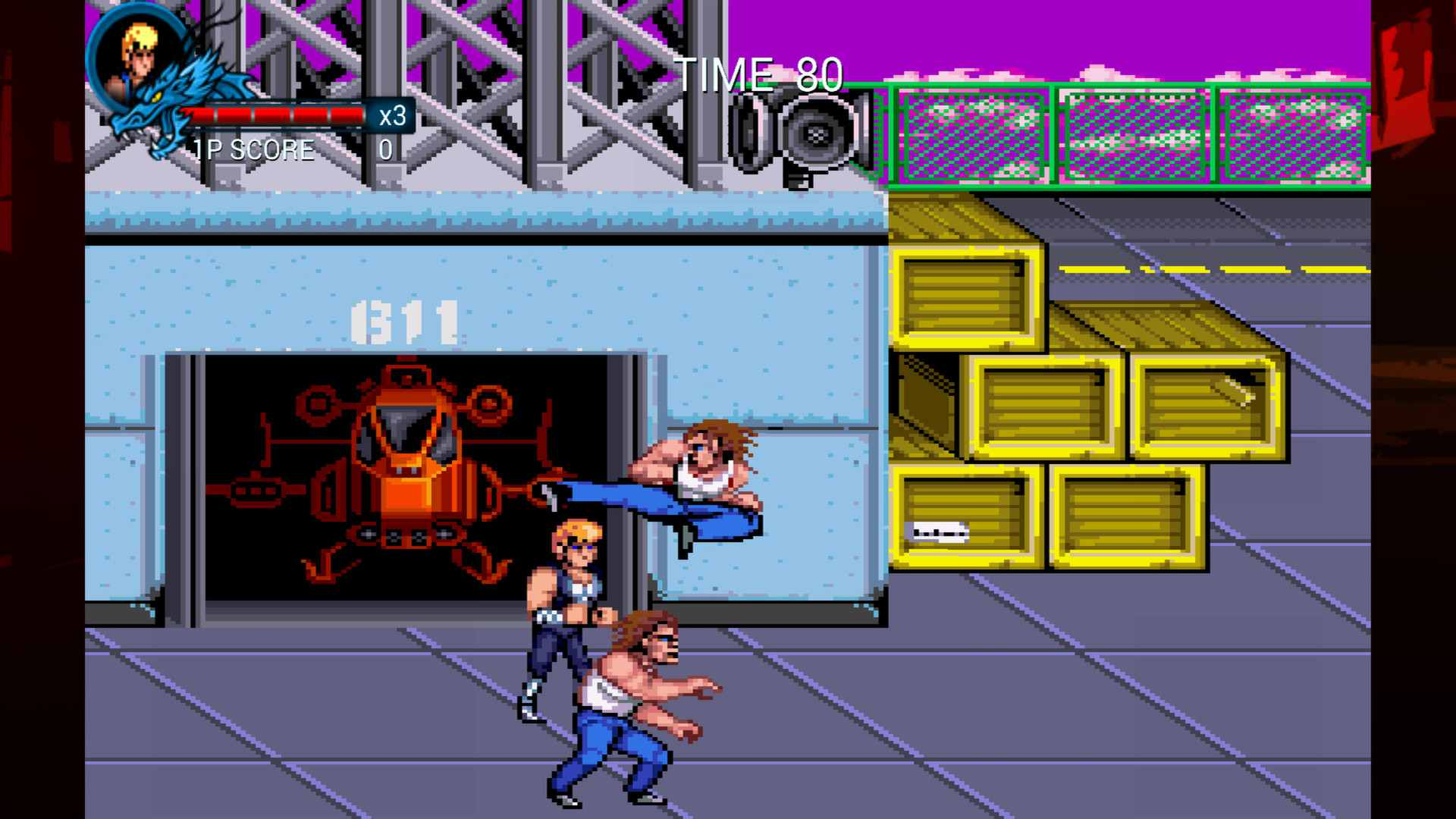 Screenshot of the Double Dragon Trilogy
