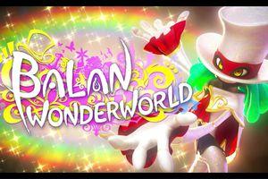 Screenshot of the title drop on the Balan Wonderworld game.