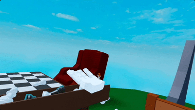 Playing Roblox in VR with Oculus Quest.