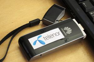 USB modem for PC, 2011. Adaptible for 4G mobile broadband (LTE). Telenor version, Norway