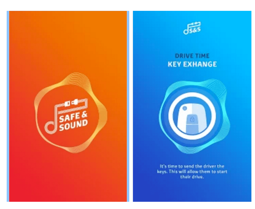 Screenshot of Toyota Safe & Sound app