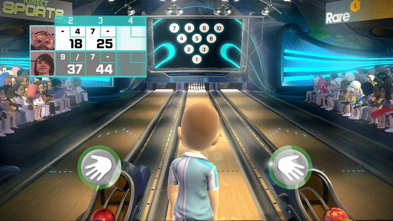 10 Frame Bowling screen