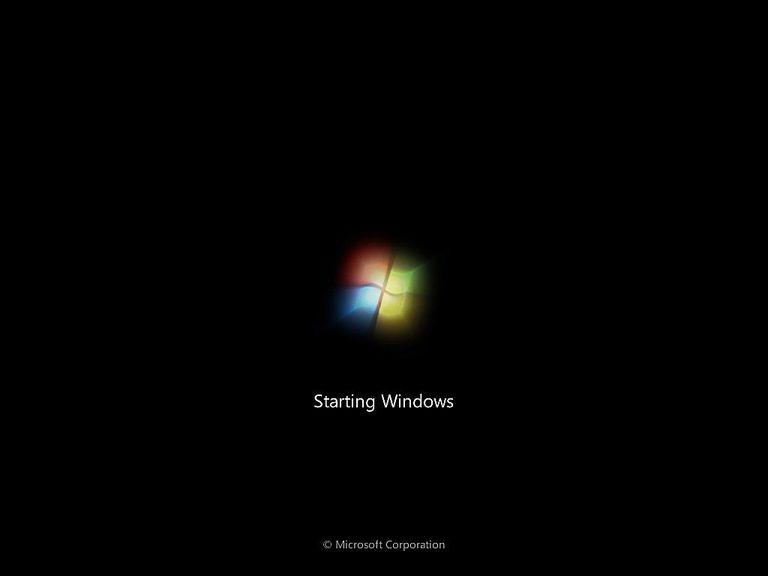 Screenshot of the Windows 7 Splash Screen