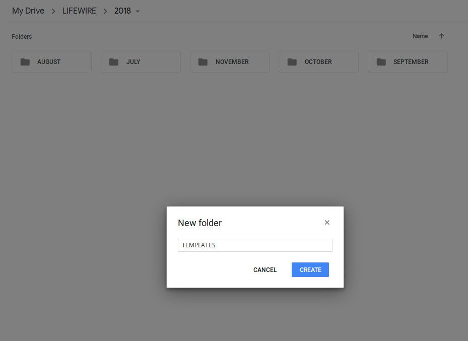 Naming a newly created Google Drive folder