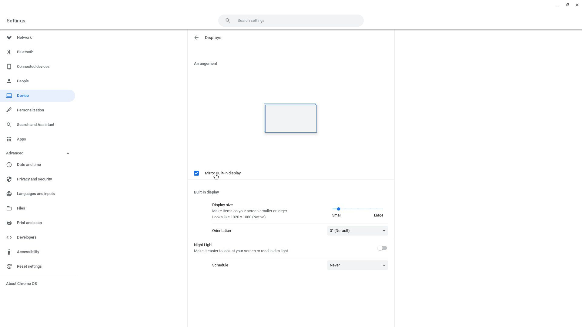 how to connect chromebook to projector - enable mirror display