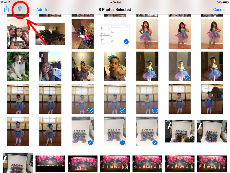 iPad Photo Stream delete tutorial