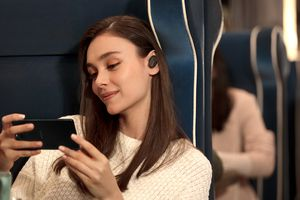 Sony Earbuds Connected to Sony Phone