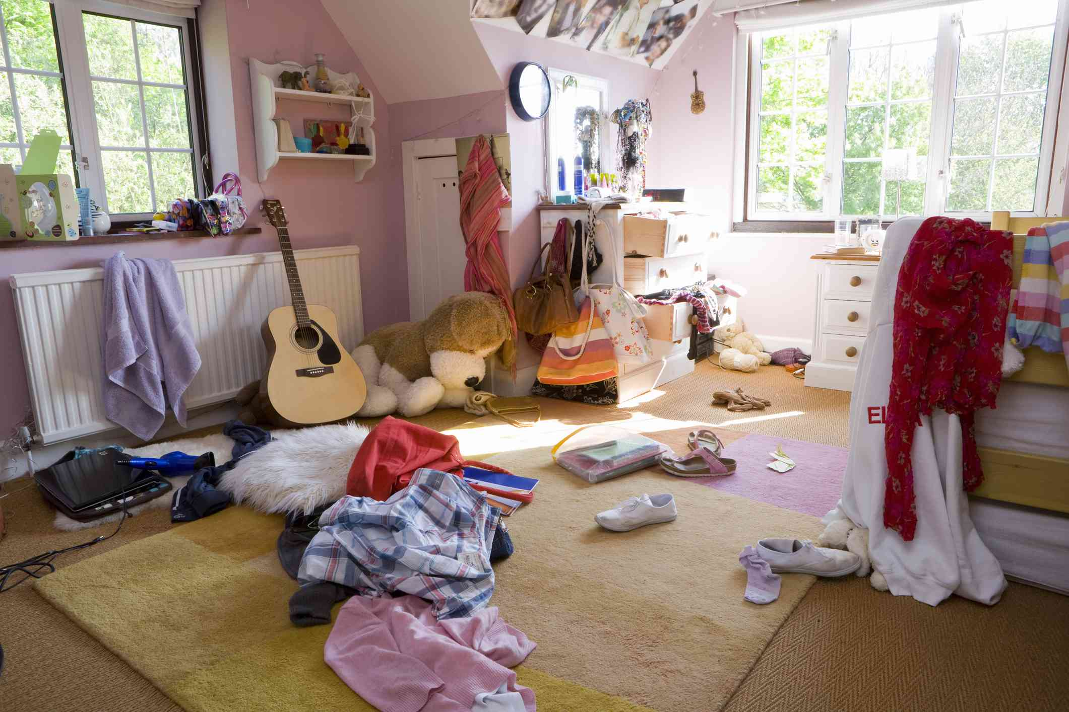 Psychology of a messy room