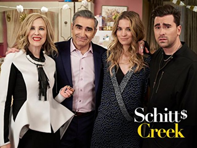 Catherine O'Hara, Eugene Levy, Annie Murphy, and Dan Levy in 'Schitt's Creek.'