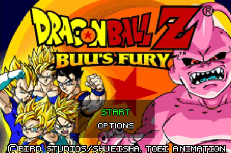 Dragon Ball Z Buu's Fury for GBA title screen