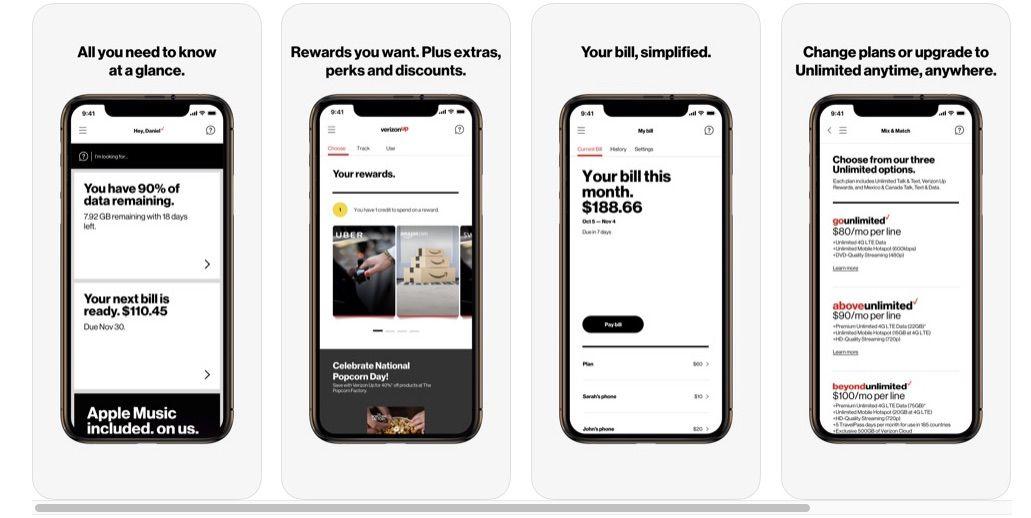 My Verizon Mobile app for monitoring data usage