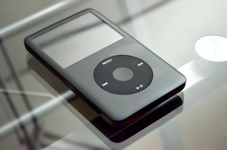 iPod Classic on glass table