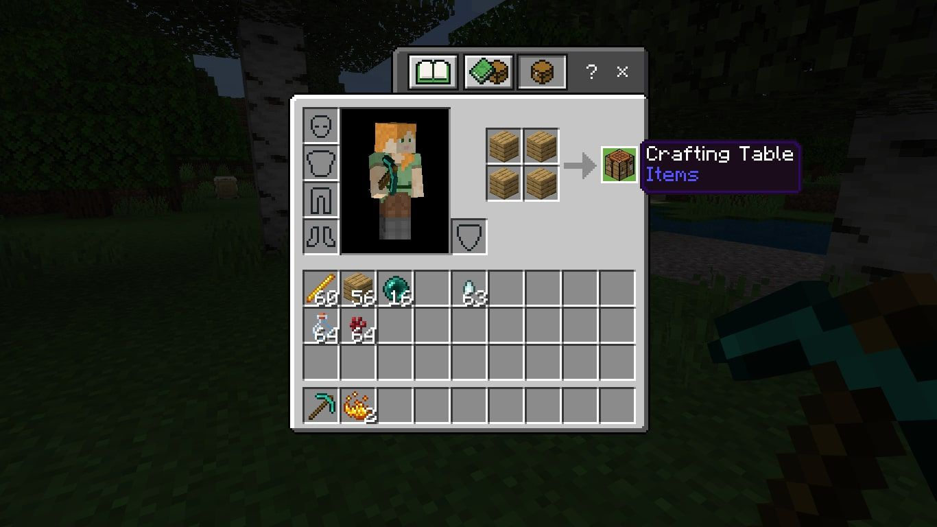 Make a Crafting Table with 4 wood planks.