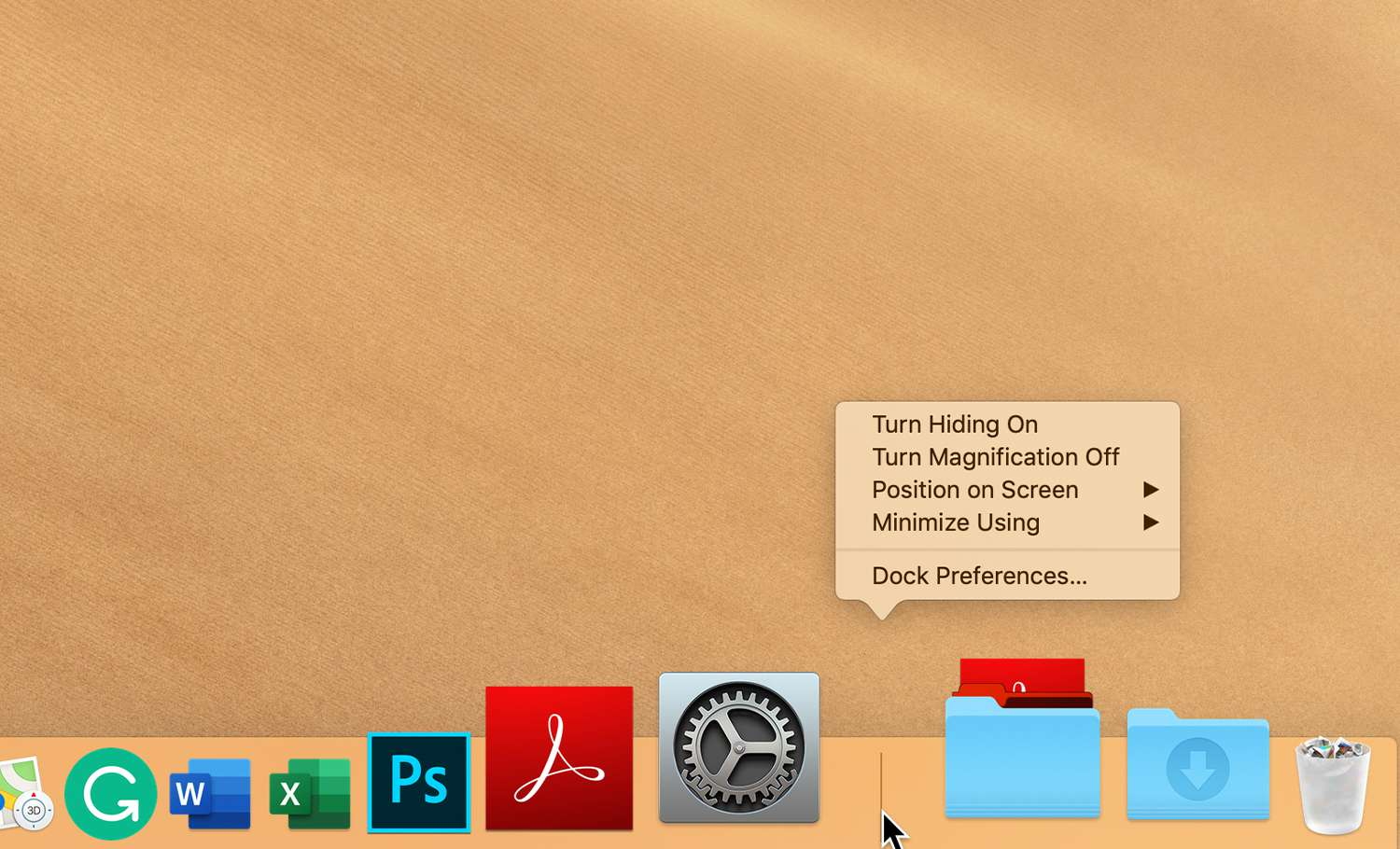How to Hide or Show the Mac's Dock