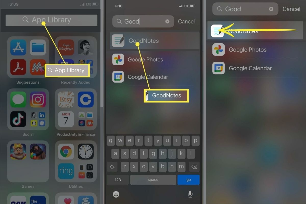 Moving a hidden app on iPhone