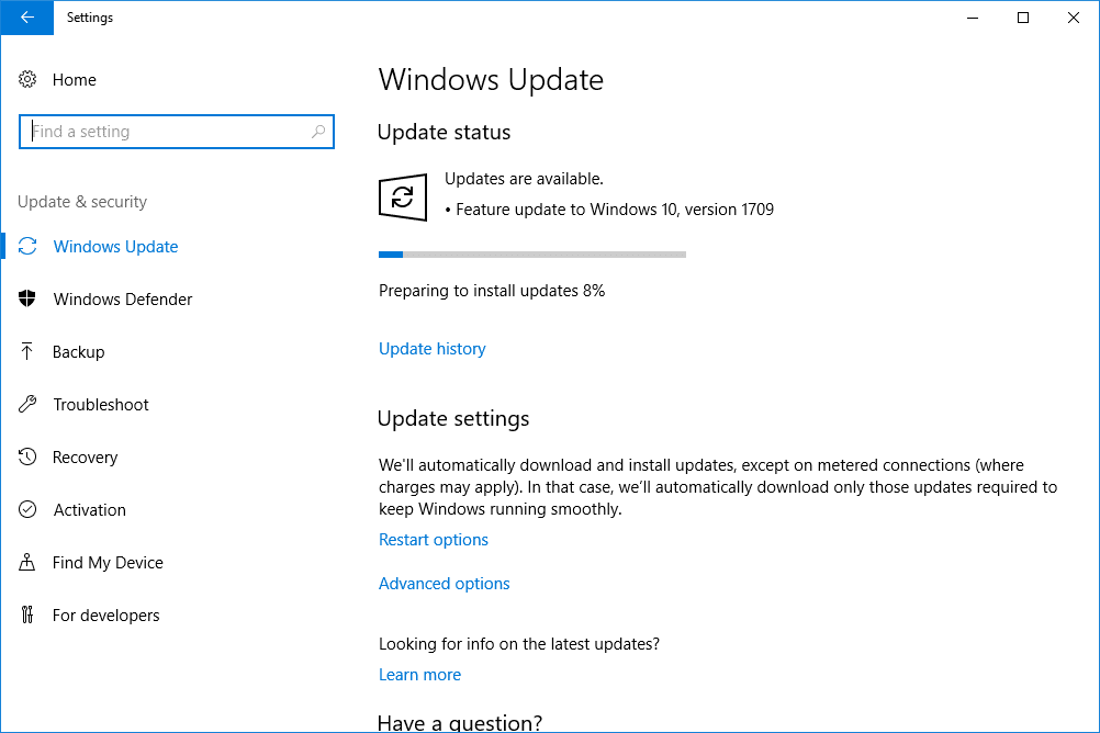how to install window updates