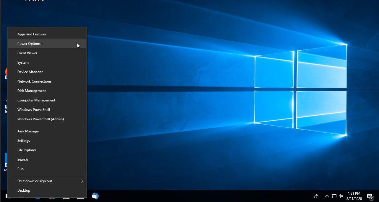 Windows 10 right-click start