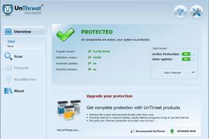 Screenshot of UnThreat AntiVirus in Windows 7