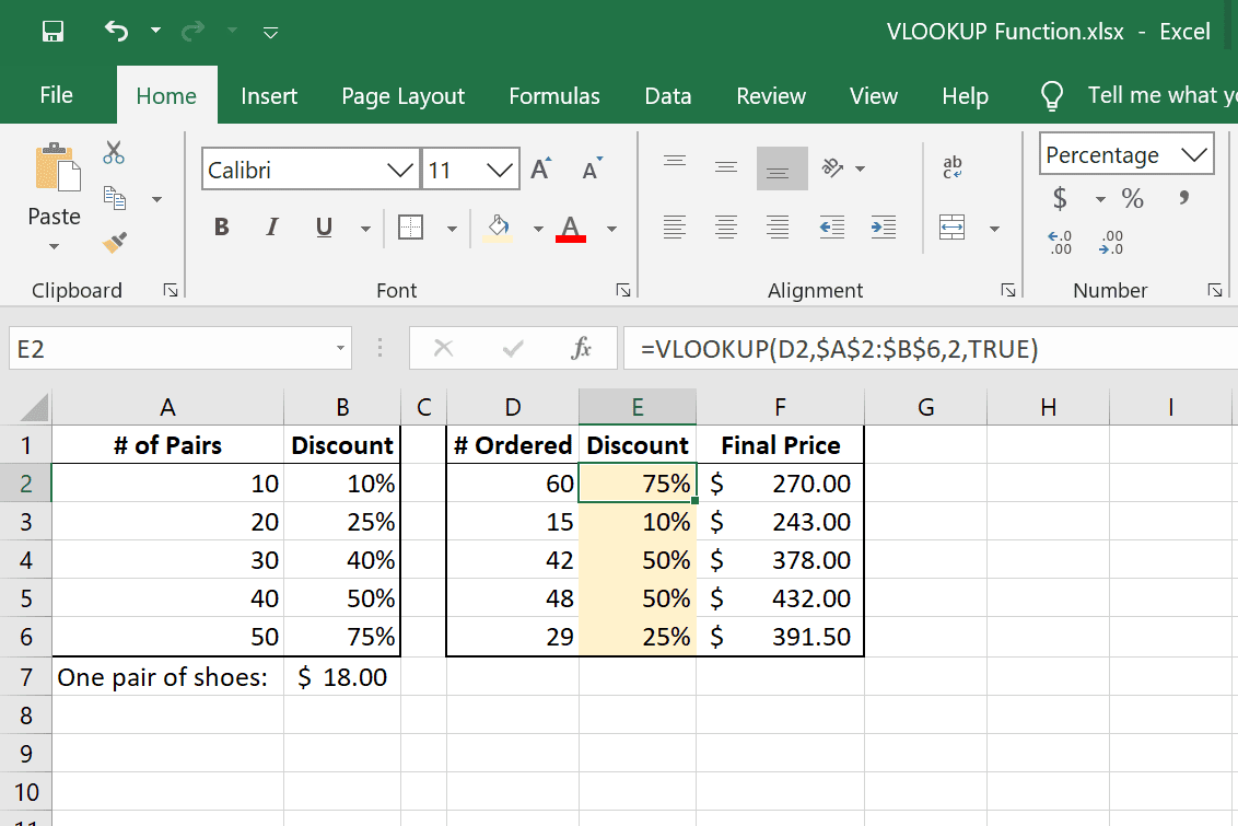 VLOOKUP approximate argument examples