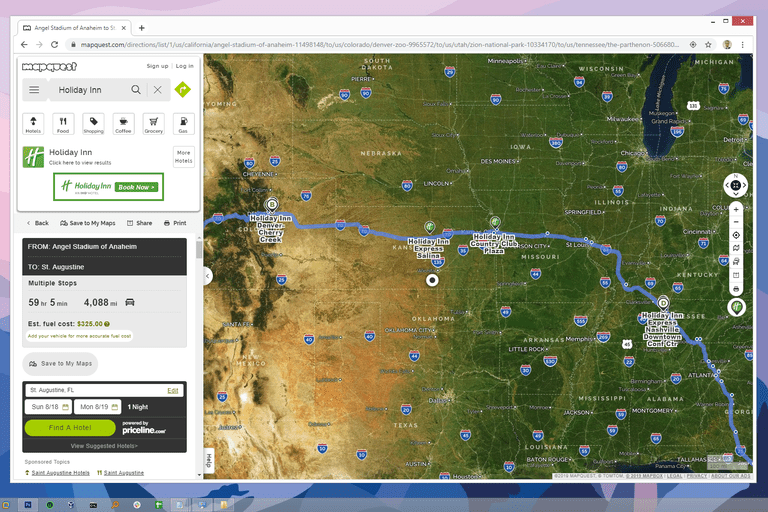 MapQuest satellite view