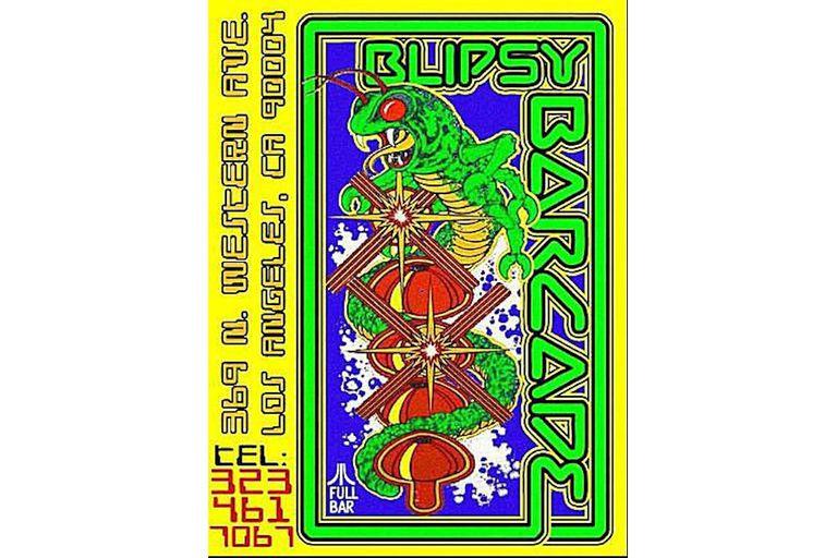 Blipsey Barcade flyer
