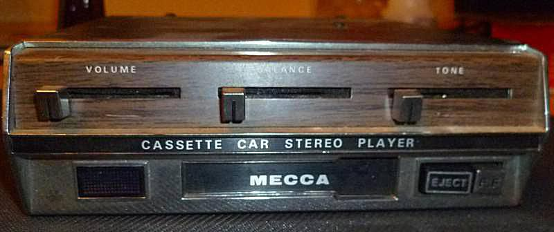 An early in-dash tape deck