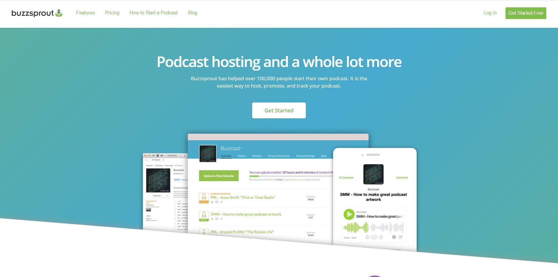 Buzzsprout website.