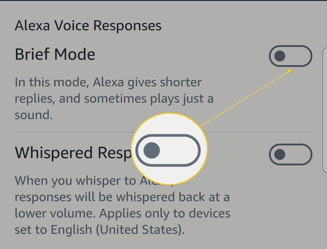 Screenshot of the Beif Mode On/Off slider.