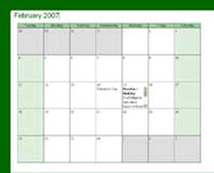 Free Web Template Calendar Layout