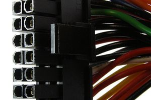 ATX Main Power Connector Pinout Table