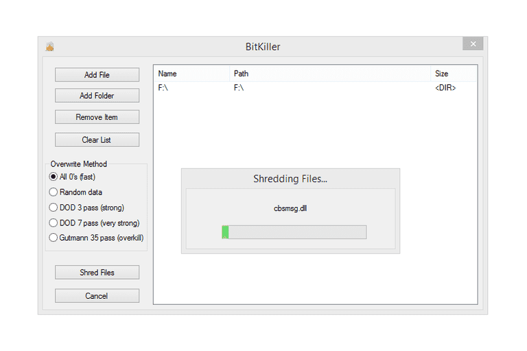 Screenshot of BitKiller in Windows 8