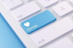 Modern White Keyboard wih Donate Buttons