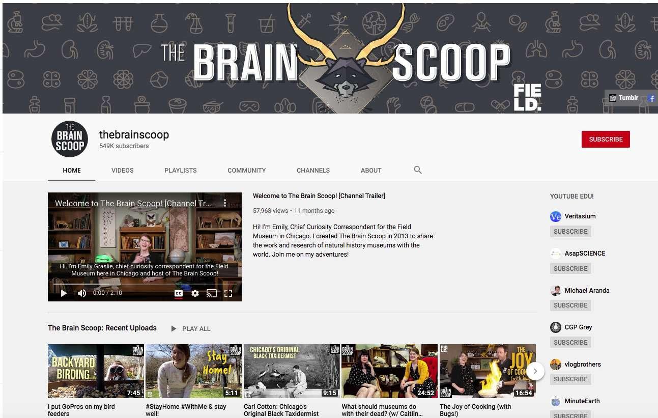 Kênh YouTube giáo dục Brain Scoop