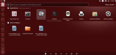 The Ubuntu Unity Dash