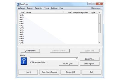 TrueCrypt v7.1a in Windows 7