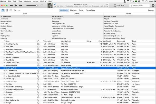 Using iTunes Match in iTunes. screenshot