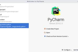 PyCharm Home Screen
