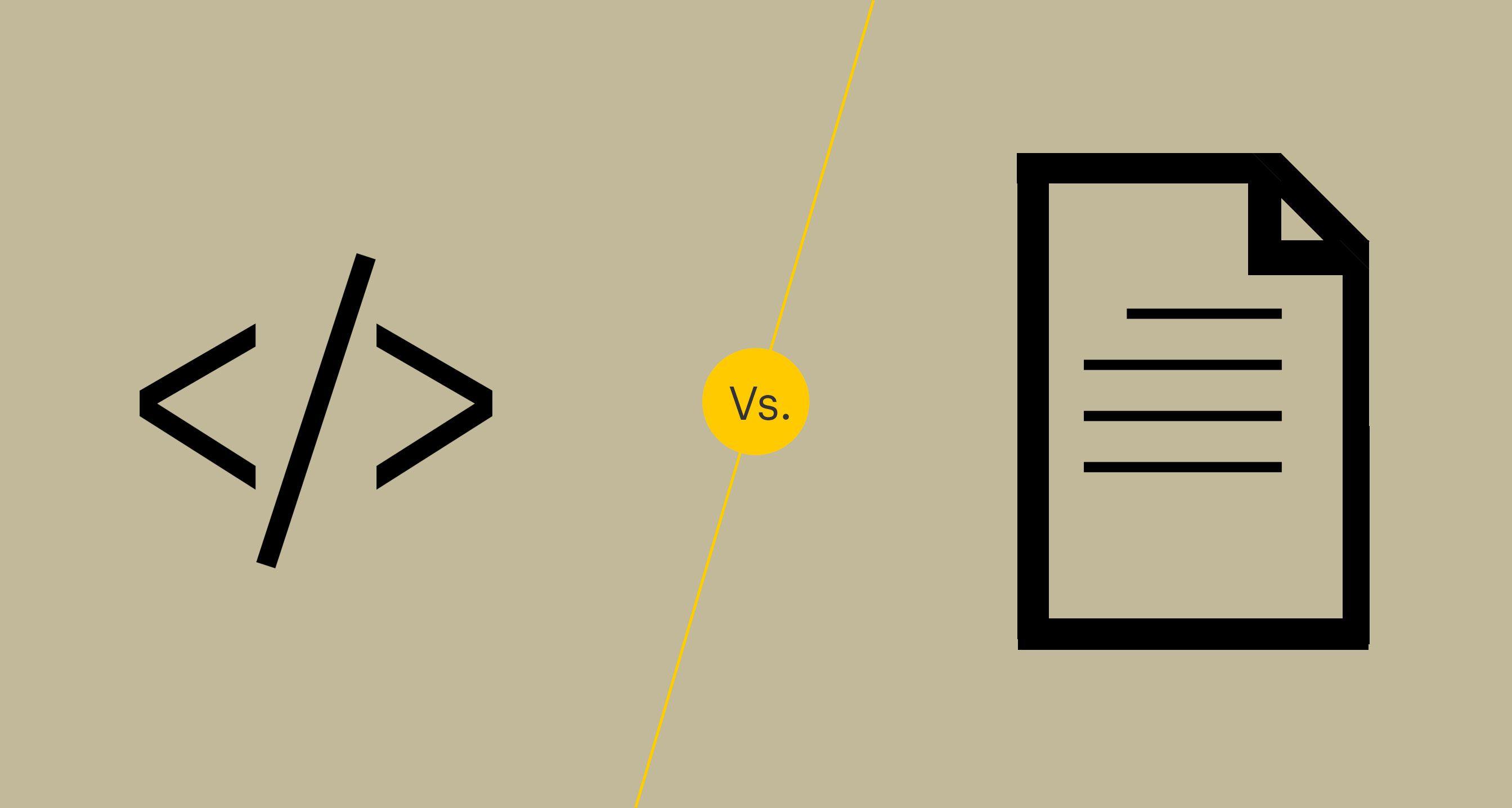 HTML vs. Plain text