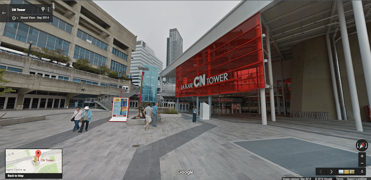 Google Street View: CN Tower.