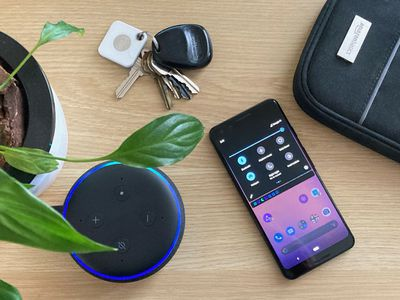 An Echo Dot connected to a phone hotspot instead of Wi-Fi.