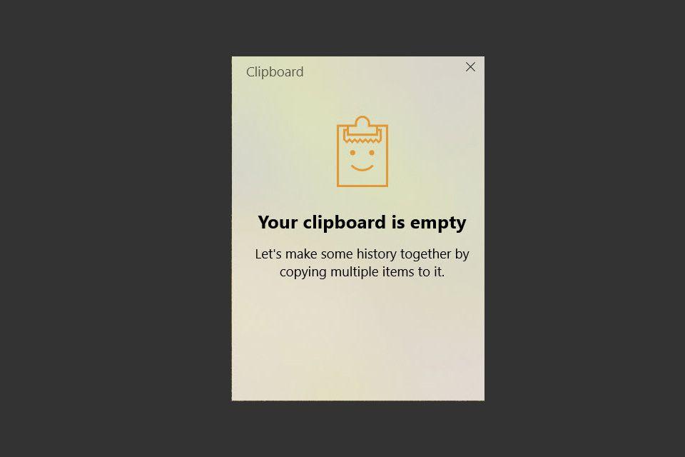 Empty Windows 10 Clipboard