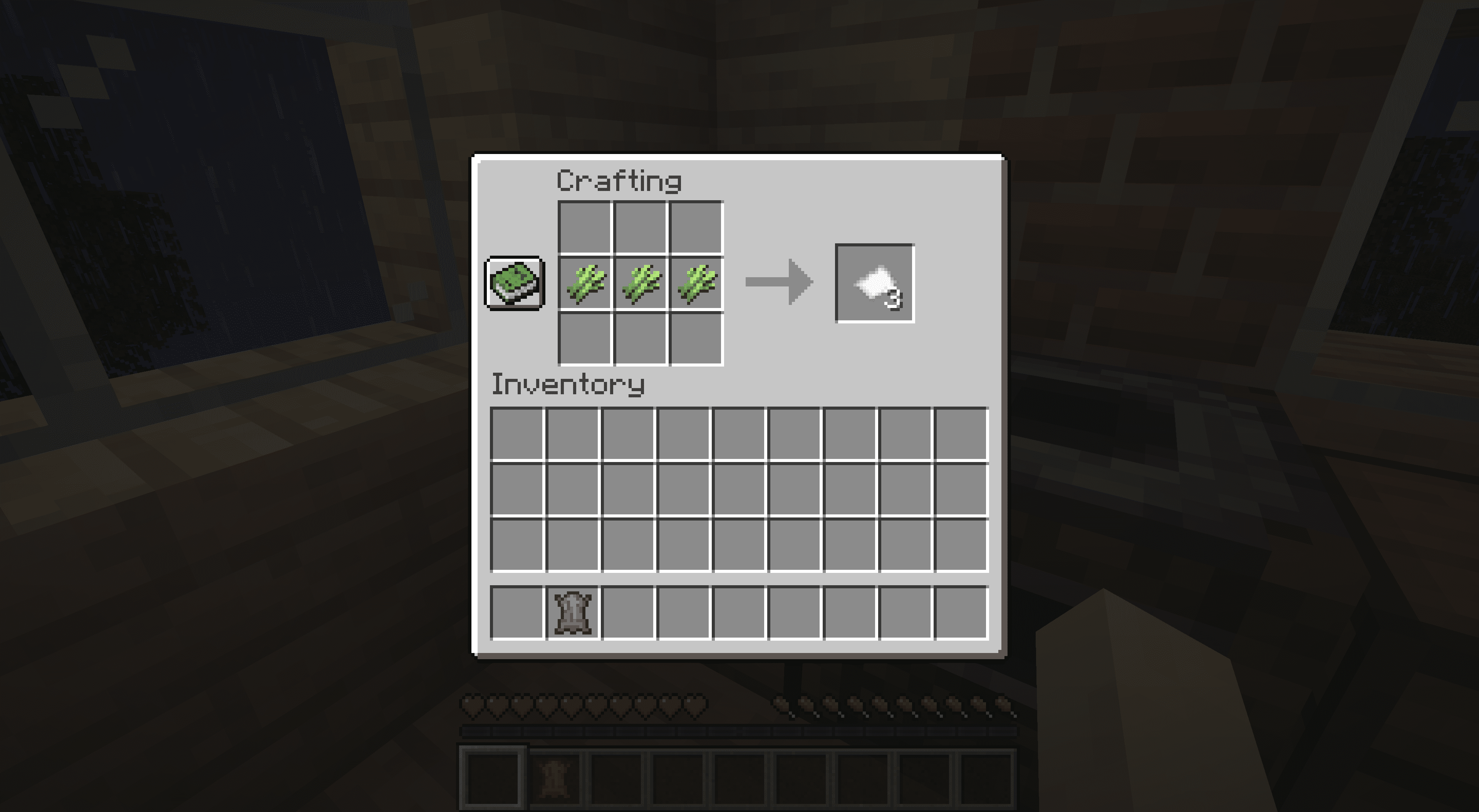 Crafting paper in Minecraft.